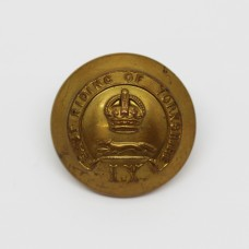 East Riding of Yorkshire Imperial Yeomanry Officer's Button - King's Crown (Large)