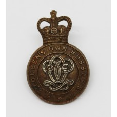 7th Queen's Own Hussars Cap Badge - Queen's Crown
