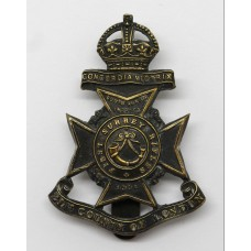21st County of London Bn. (First Surrey Rifles) London Regiment Cap Badge - King's Crown