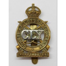 3rd County of London Yeomanry (Sharpshooters) Cap Badge - King's