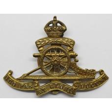 Royal Artillery Territorial Cap Badge - King's Crown