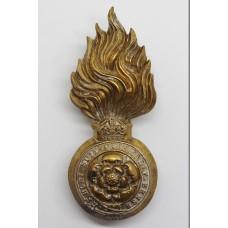 Royal Fusiliers Fur Cap Grenade Badge - King's Crown