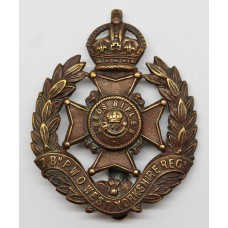 7th Bn. (Leeds Rifles) P.W.O. West Yorkshire Regiment Cap Badge -