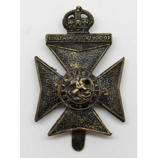 9th County of London Bn. (Queen Victoria's Rifles) London Regiment Cap Badge - King's Crown