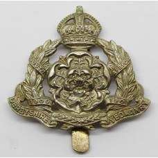 Derbyshire Yeomanry Cap Badge - King's Crown (White Metal)