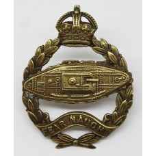 Scarce 1924 Pattern Royal Tank Corps Officer's Service Dress Cap Badge (Reverse Facing Tank)