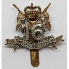 16th/5th Queen's Lancers Beret Badge - Queen's Crown