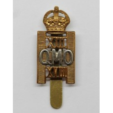 13th/18th QMO Royal Hussars Cap Badge - King's Crown