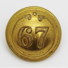 Victorian 67th (South Hampshire) Regiment of Foot Officer's Button (Large)