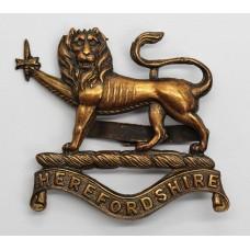 Herefordshire Regiment Officer's Service Dress Cap Badge