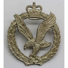 Army Air Corps Officer's Silver Plated Cap Badge - Queen's Crown