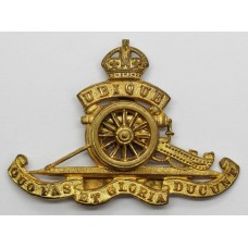 Royal Artillery Officer's Dress Cap Badge - King's Crown