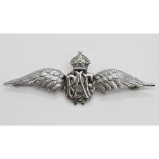 Royal Air Force (R.A.F.) Sweetheart Brooch - King's Crown