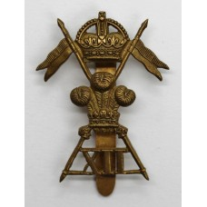 12th Royal Lancers WW1 All Brass Economy Cap Badge