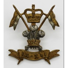9th/12th Royal Lancers Officer's Cap Badge - Queen's Crown