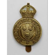 Shropshire Yeomanry Cap Badge - King's Crown