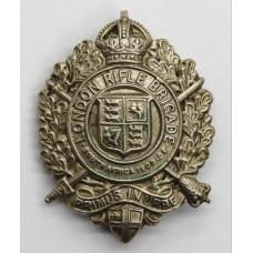 5th City of London Bn. (London Rifle Brigade) London Regiment Cap Badge - King's Crown