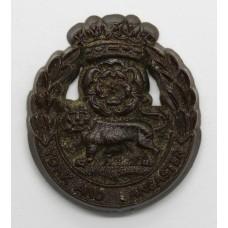 York & Lancaster Regiment WW2 Plastic Economy Cap Badge
