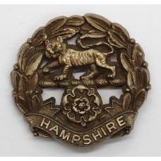 Hampshire Regiment WW2 Plastic Economy Cap Badge