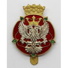 Royal Mercian & Lancastrian Yeomanry Enamelled Cap Badge