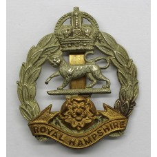 Royal Hampshire Regiment Cap Badge - King's Crown