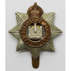 Devonshire Regiment Cap Badge - King's Crown