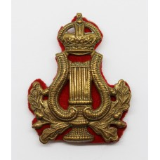 British Army Bandmaster's Musician Arm Badge - King's Crown