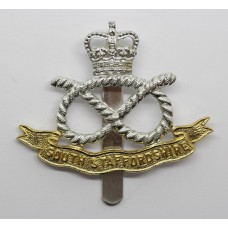 South Staffordshire Regiment Anodised (Staybrite) Cap Badge