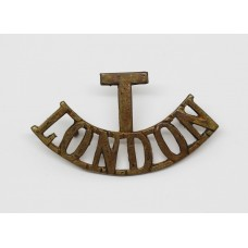 London Regiment (T / LONDON) Greatcoat Shoulder Title