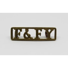 Fife & Forfar Yeomanry (F&FY) Shoulder Title
