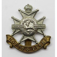 Notts & Derby Regiment (Sherwood Foresters) Cap Badge - King's Crown