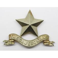 Cameronians (Scottish Rifles) Pipers Cap Badge