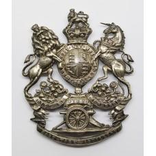 Victorian First East York Artillery Silver Plated Helmet Plate