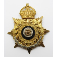 York & Lancaster Regiment Officer's Blue Cloth Helmet Plate -
