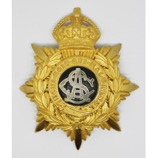Army Service Corps (A.S.C.) Officer's Helmet Plate - King's Crown