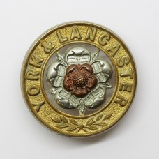 York & Lancaster Regiment Helmet Plate Centre
