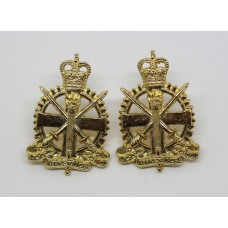 Pair of Army Apprentices School Anodised (Staybrite) Collar Badges