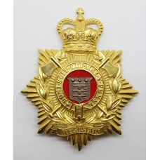 Royal Logistic Corps Blue Cloth Helmet Plate - Queen's Crown