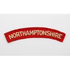 Northamptonshire Regiment (NORTHAMPTONSHIRE) Cloth Shoulder Title