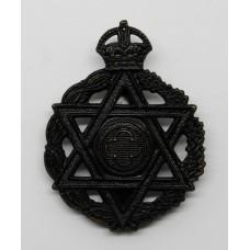 Royal Army Chaplains Department Jewish Chaplain Cap Badge - King's Crown