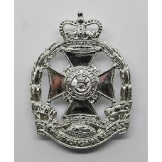 7th Battalion P.W.O. West Yorkshire Regiment (Leeds Rifles) Anodised (Staybrite) Cap Badge - with Tank