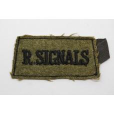 Royal Signals (R. SIGNALS) Cloth Slip On Shoulder Title