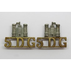 Pair of 5th Royal (Inniskilling) Dragoon Guards (5DG) Shoulder Titles