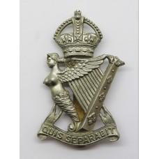 Royal Ulster Rifles Cap Badge - King's Crown