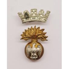 Victorian Royal Irish Fusiliers Officer's Collar Badge