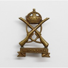 3rd County of London Yeomanry (Sharpshooters) Collar Badge - King