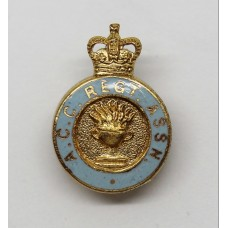 Army Catering Corps (A.C.C.) Regimental Association Enamelled Lapel Badge - Queen's Crown