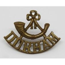 Durham Light Infantry (Bugle over DURHAM) Shoulder Title