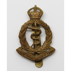 Royal Army Medical Corps (R.A.M.C.) Brass Cap Badge - King's Crown