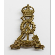 Pioneer Corps Cap Badge - King's Crown